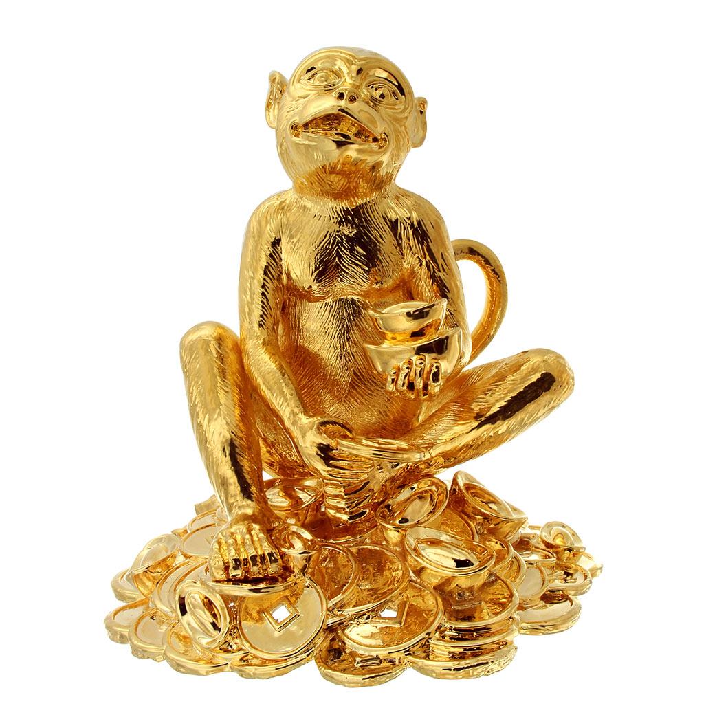 Tượng Khỉ Mạ Vàng PNJ Art Y000006 - Khỉ Vàng Tài Trí