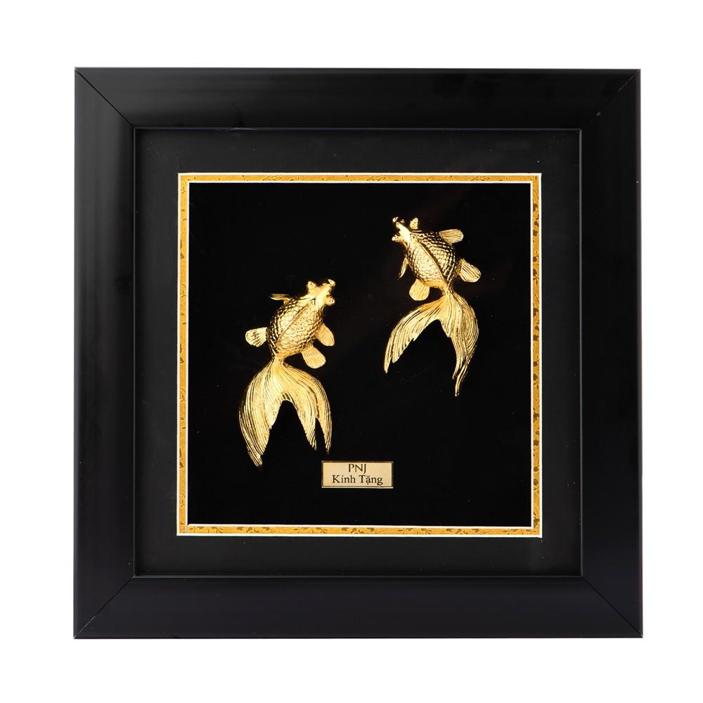 Tranh Song Ngư Mạ Vàng PNJ Art Y060090