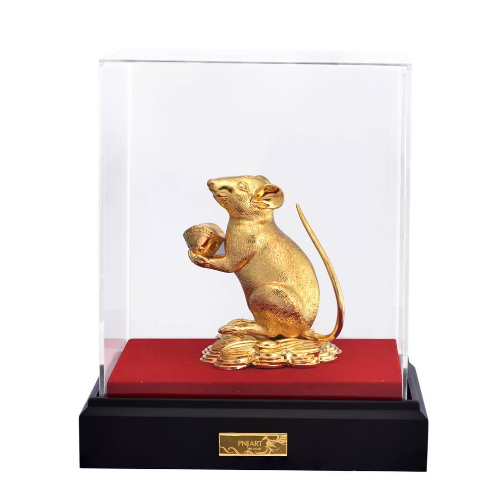 Tượng Chuột Vàng PNJ Art Y000014 - Kim Tý Chiêu Tài