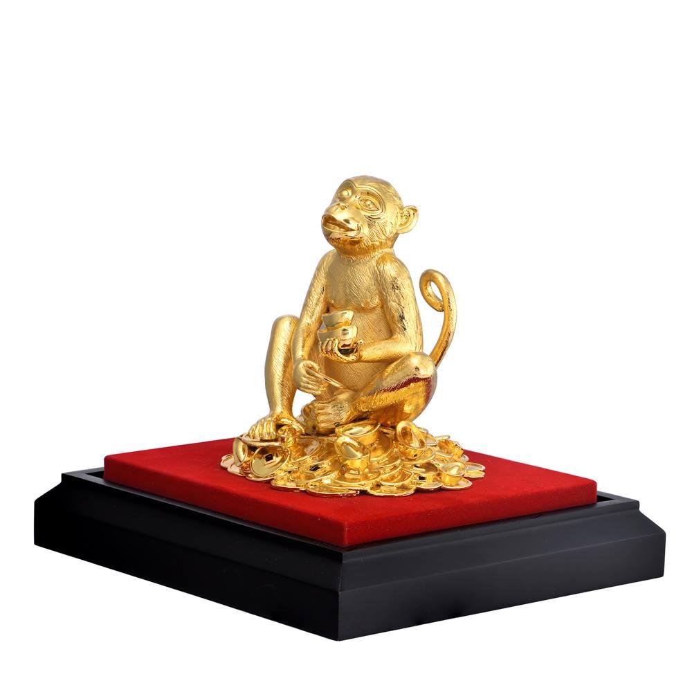 Tượng Khỉ Vàng Tài Trí PNJ Art Y000007 (lớn)
