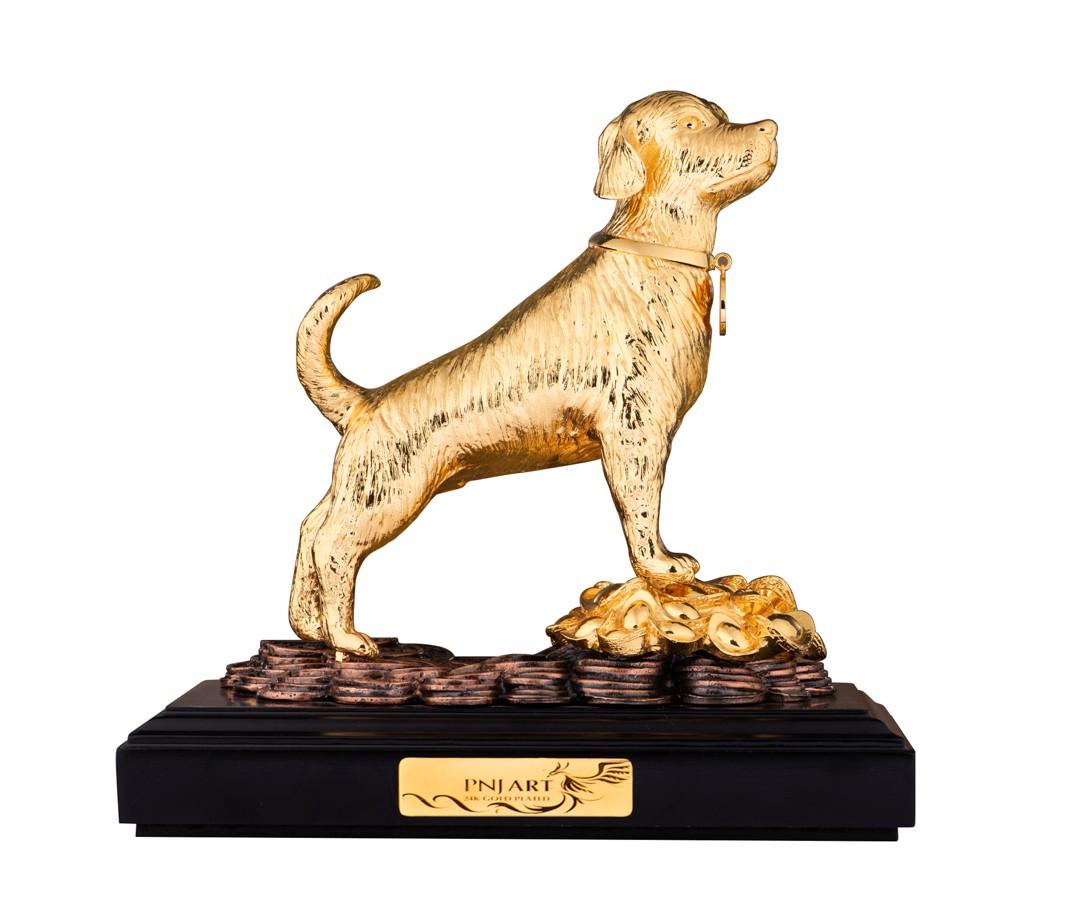 Tượng Kim Khuyển Mạ Vàng PNJ Art Y000019