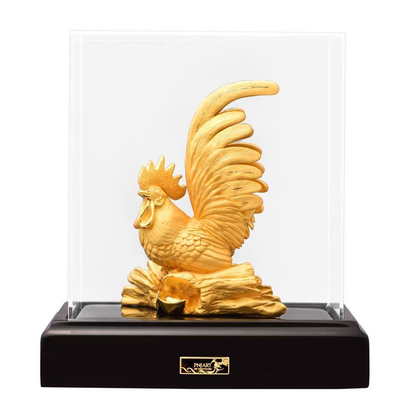 Tượng Gà Trống Vàng PNJ Art Y060011 - Kê Vàng Quý Linh