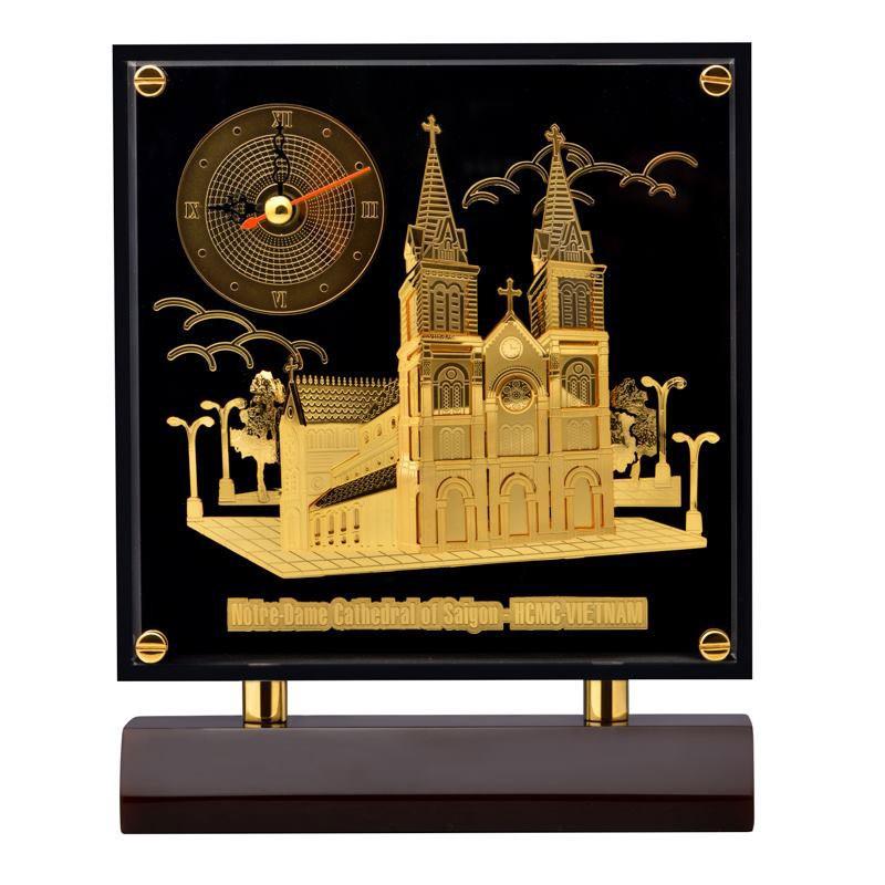 Tranh đồng hồ Nhà Thờ Đức Bà PNJ Art TW0000Y060001