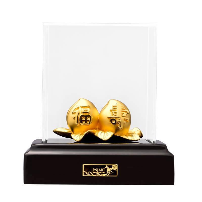 Quả đào tiên mạ vàng PNJ Art TZ0000Y060059.000
